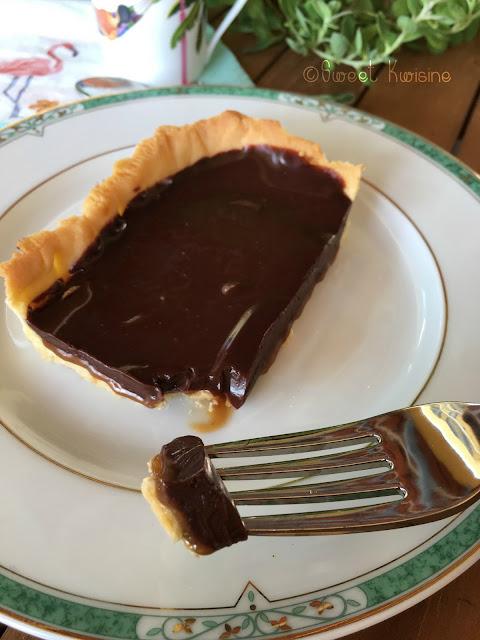 Sweetkwisine, CBS, caramel beurre salé, chocolat, tarte, ganache, végétarien, cuisine facile, pâtisserie, Martinique, caraibes, antille