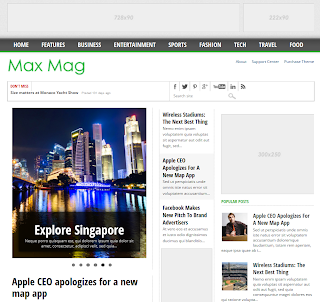 Download MaxMag Responsive Blogger Templates
