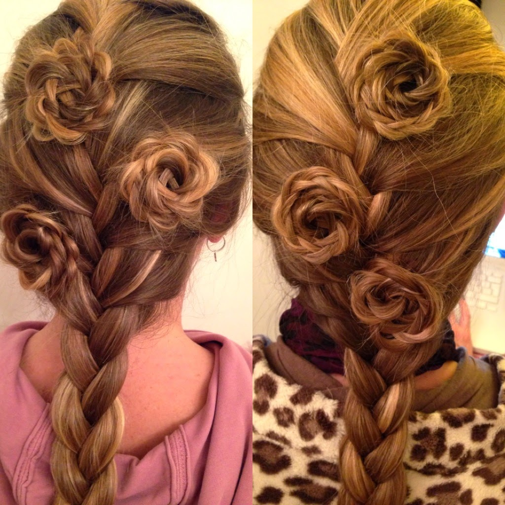 Hairstyles Plaits Braids: Hair Styles By Liberty: French Braid + Rosettes