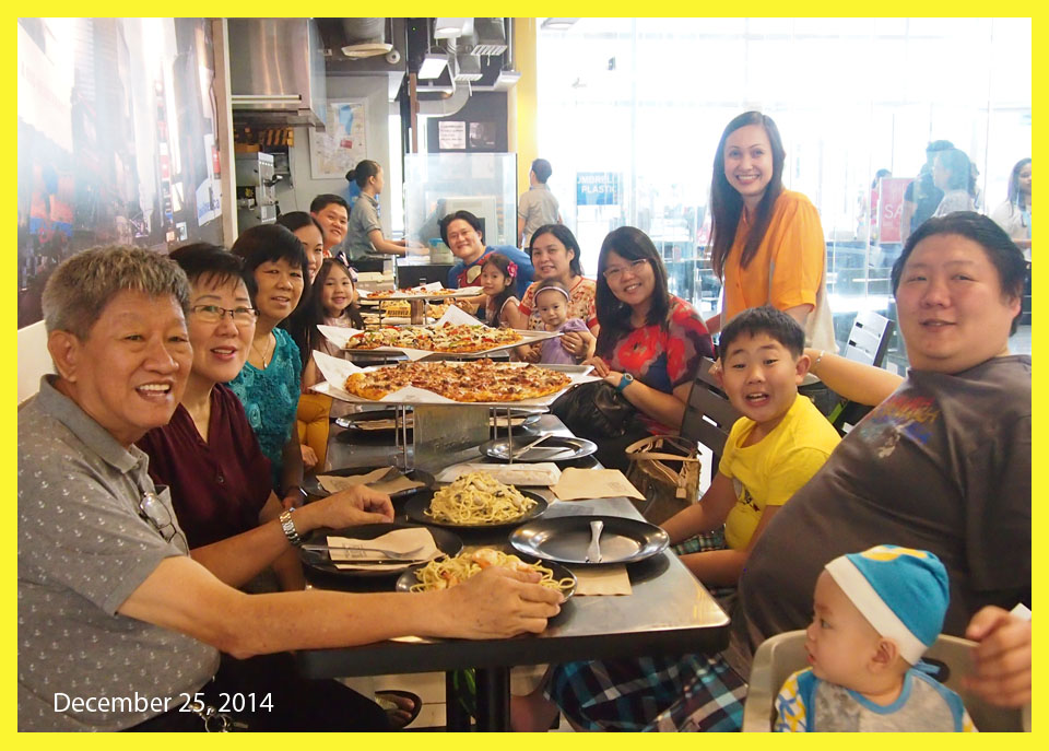 Christmas lunch at Yellow Cab Pizza - happy family traditions - Bacolod mommy blogger  - parenting blog