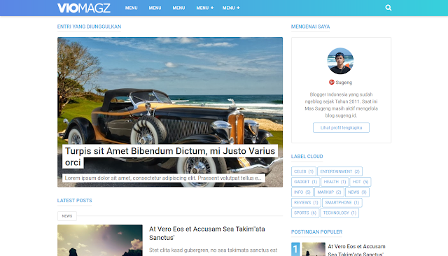 VioMagz - Template Blogger SEO Friendly Terbaik 2018