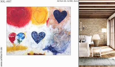 Zeitgenössische Kunst, Acrylmalerei, die zum schöner Wohnen
