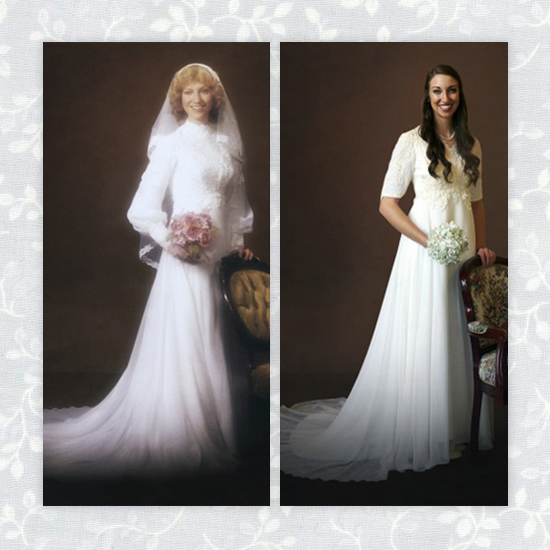 la yaya costurera: llevar el vestido de novia de tu madre en tu boda