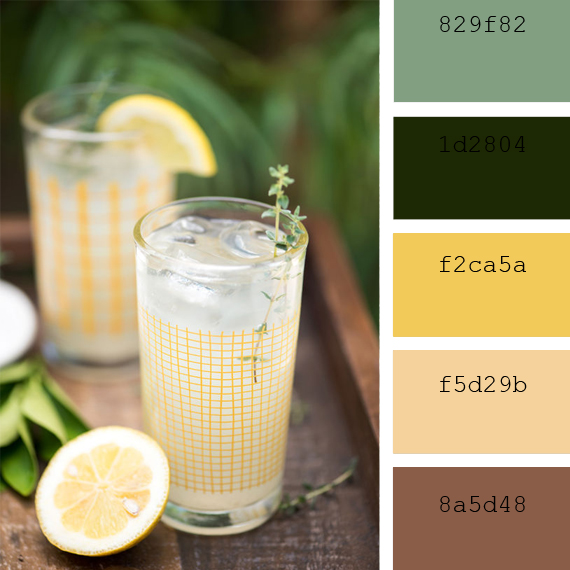 pantone color of the day, basil color palette
