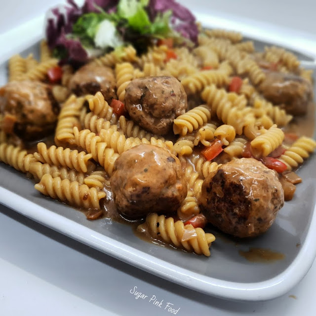 Low Fat Pork Meatballs in Gravy recipe slimming world