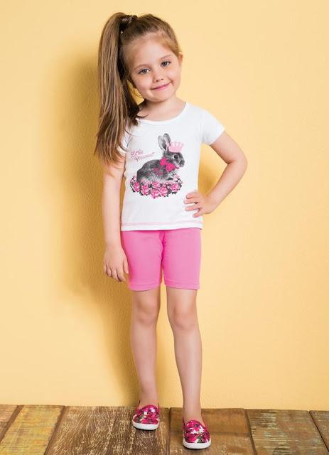 conjunto menina rosa barato