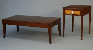 coffee table and end table made of solid mahogany