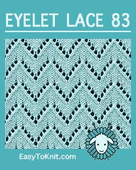 #Knit Eyelet Lace Pattern 83
