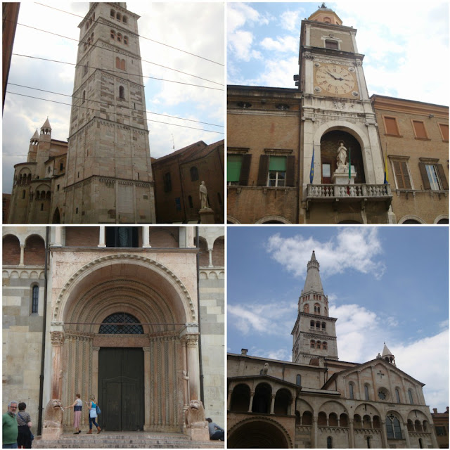 O que fazer em Modena? Roteiro para algumas horas na cidade da Ferrari - Piazza Grande, Duomo e Torre Ghirlandina