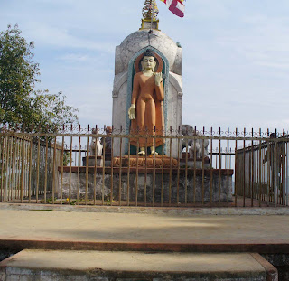 Lord Buddha standing Statue Srinagar Palpal Photo