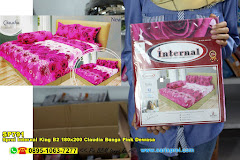 Sprei Internal King B2 180×200 Claudia Bunga Pink Dewasa