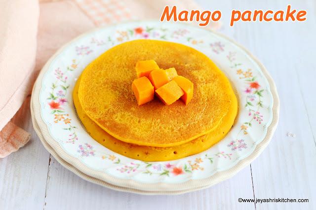 Mango-pancake recipe
