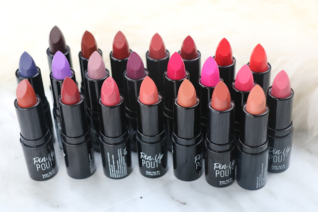NYX pin up pout lipstick review and swatches