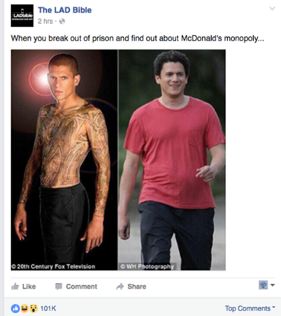 'Prison Break' Star Responds To Body-Shaming Meme, Says 'I Was Suicidal'