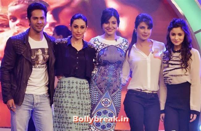 Varun Dhawan, Karisma Kapoor, Anushka Sharma, Priyanka Chopra and Alia Bhatt, Priyanka Chopra Our Girl Our Pride Campaign Show Pics