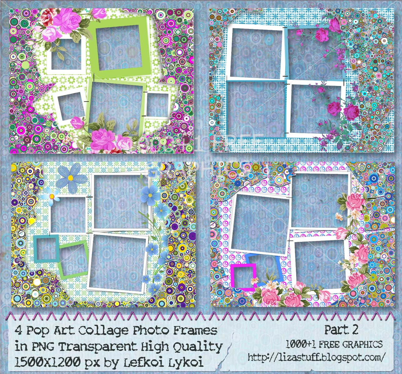 1000 1 Free Graphics 4 Pop Art Collage Photo Frames In
