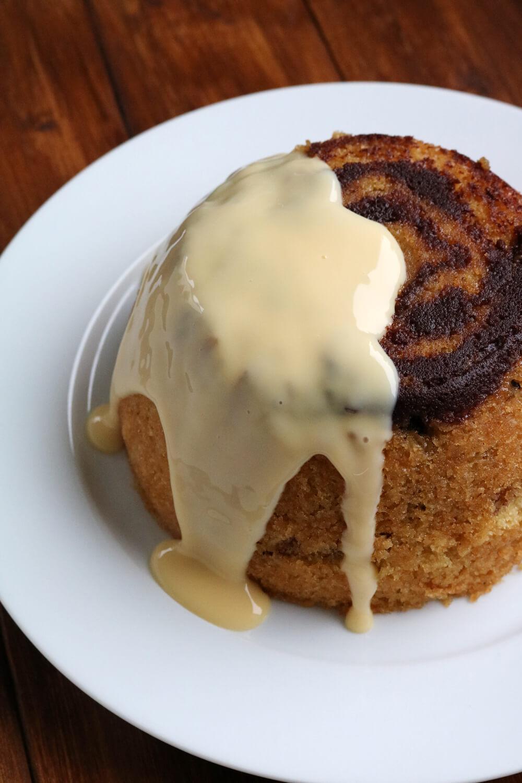 Cinnamon Swirl Steamed Pudding   Bake Off Bake Along   Hungry Little Bear