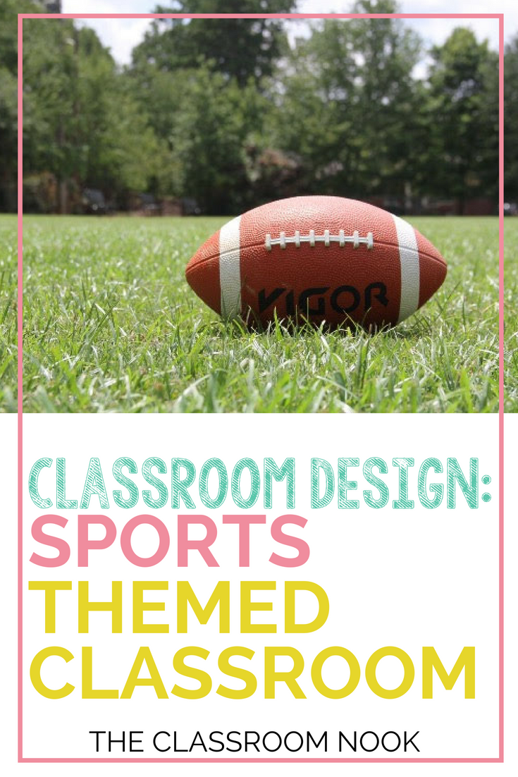 Learn how to create a sports themed classroom with ideas for bulletin board displays, ideas for classroom accessories, and printable decor and more!  #classroomdecor #backtoschool #classroomtheme #classroom #classroomdesign #teacher
