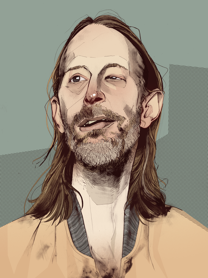 Thom York Radiohead drawing
