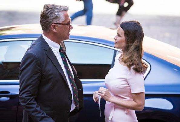 Swedish Princess Sofia attends graduation ceremony for sophia sisters at Stockholm City Hall. Princess Sofia wore dress