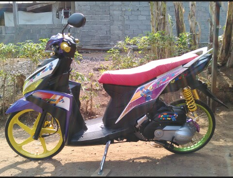 modifikasi mio m3 street racing  paling bagus