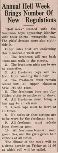 "From <b><i>""The Eagle""</i></b> October 9, 1935"