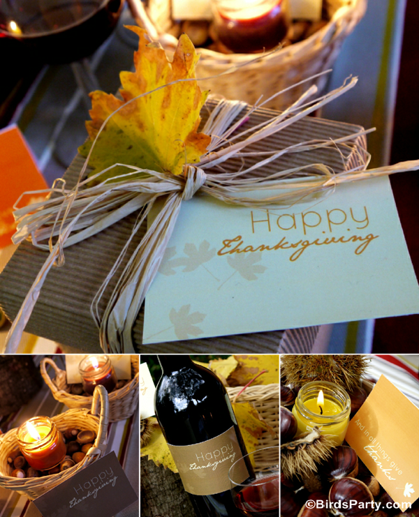 Free Printable Thanksgiving Party Stationery - BirdsParty.com