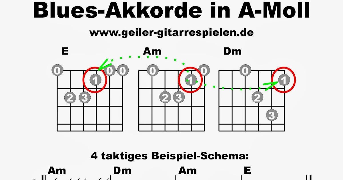 Blues-Akkorde in Moll | Einfach geiler Gitarre spielen!