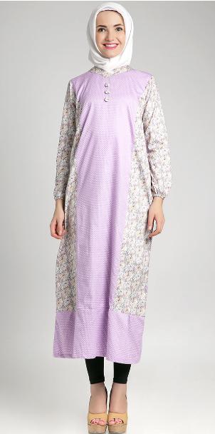 Kombinasi model baju hamil batik muslim terkini