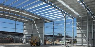 harga per m2 bangunan gudang konstruksi baja