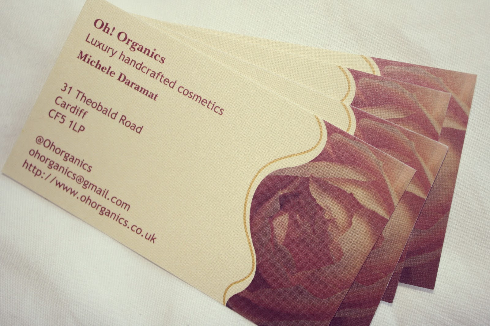 Oh! Organics business cards