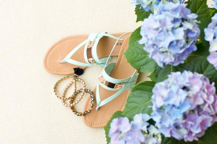 Blue Spring Sandals