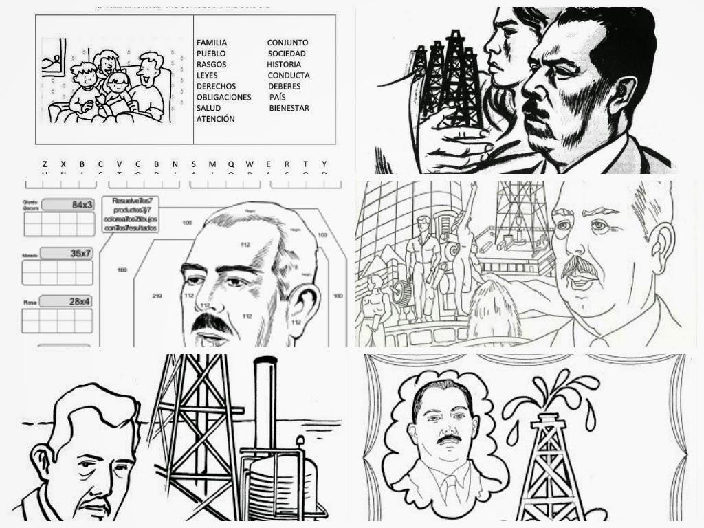 Dibujos Para Imprimir Y Colorear 18 De Marzo Expropiación