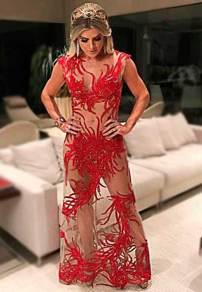 Mirela Santos vestido festa