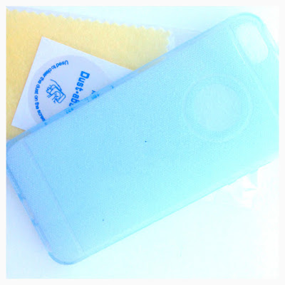 Sparkle iPhone case in pale blue @ ups and downs, smiles and frowns