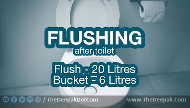 Water Saving Suggestion - While Flushing after Toilet