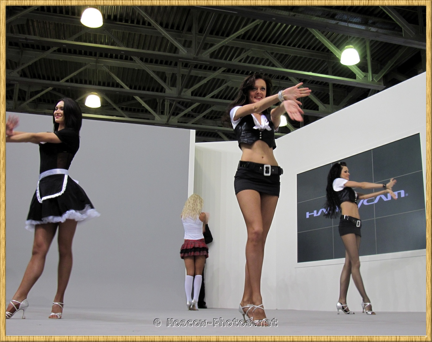 High Heels Girls Dancing.  Moscow Photoforum.