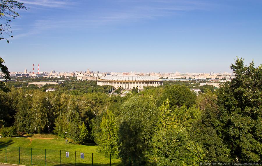 Вид со смотровой площадки на Воробьёвых горах