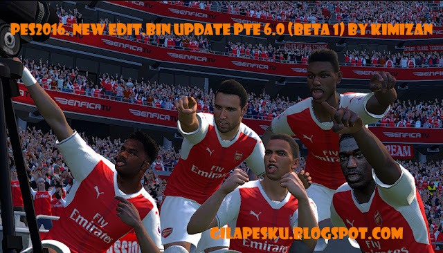 PES 2016 NEW edit.bin update PTE 6.0 (beta 1) by Kimizan