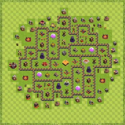 War Base Town Hall Level 10 By MetaKnight4678 (Dylan TH 10 Layout)