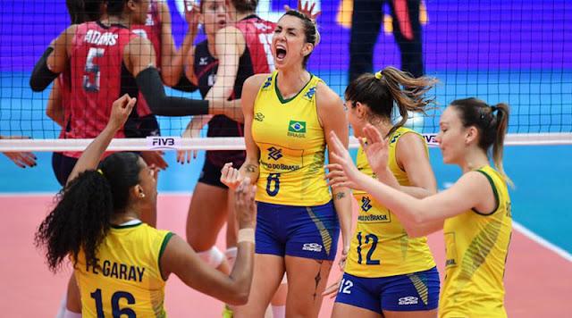 Horário do jogo Brasil x Estados Unidos  vôlei feminino 23-07-2017
