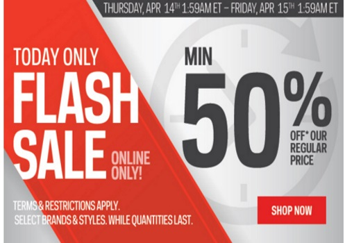 Sportchek Flash Sale 50% Off + Free Shipping On All Orders
