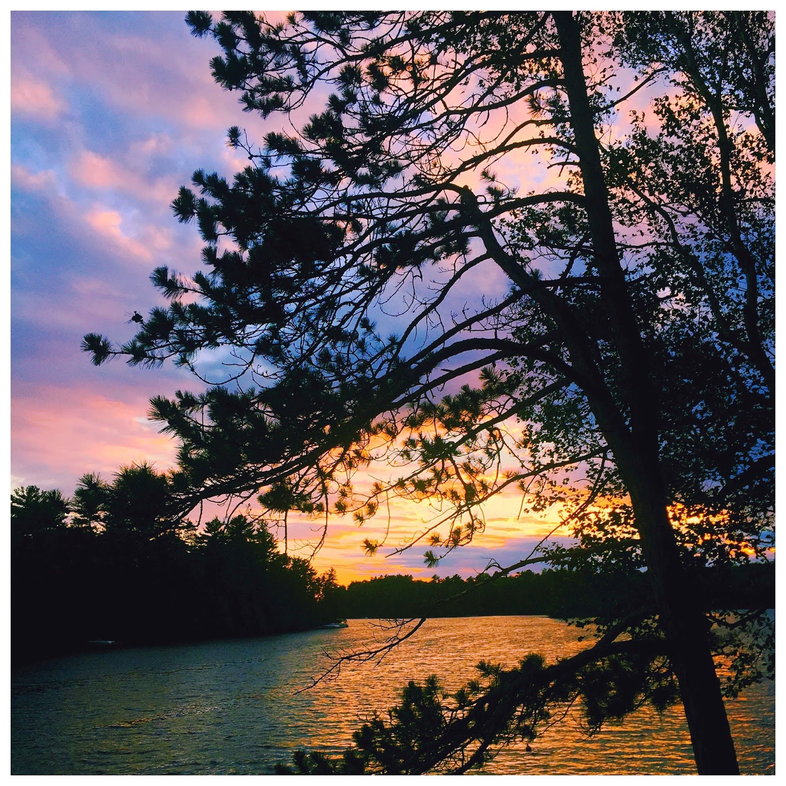 muskoka cottage country toronto canada ontario sunset colourful