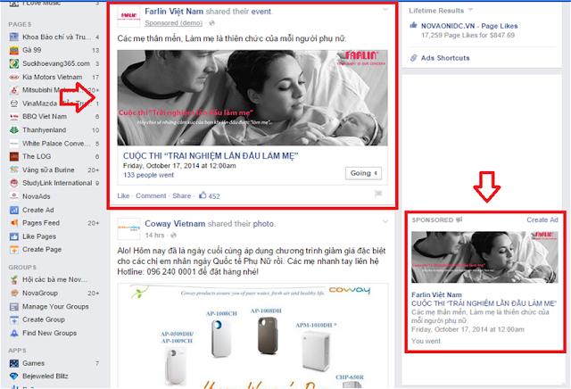Hình thức quảng cáo Facebook Event Responsive