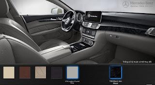 Nội thất Mercedes CLS 400 2015 màu Xám Crystal 218