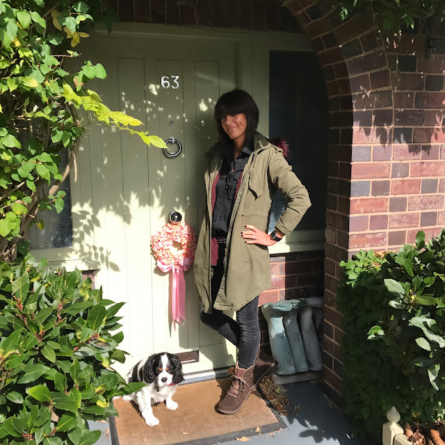 my midlife fashion, sorel womens meadow lace waterproof boots, zara skinny jeans, zara military shirt, hush parka