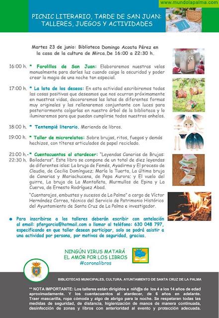 Cultura adapta la celebración de la Noche de San Juan a las exigencias sanitarias por Covid 19 para mantener viva la tradición en Santa Cruz de La Palma