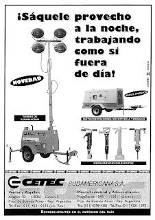 diseño de avisos para cetec sudamericana sa