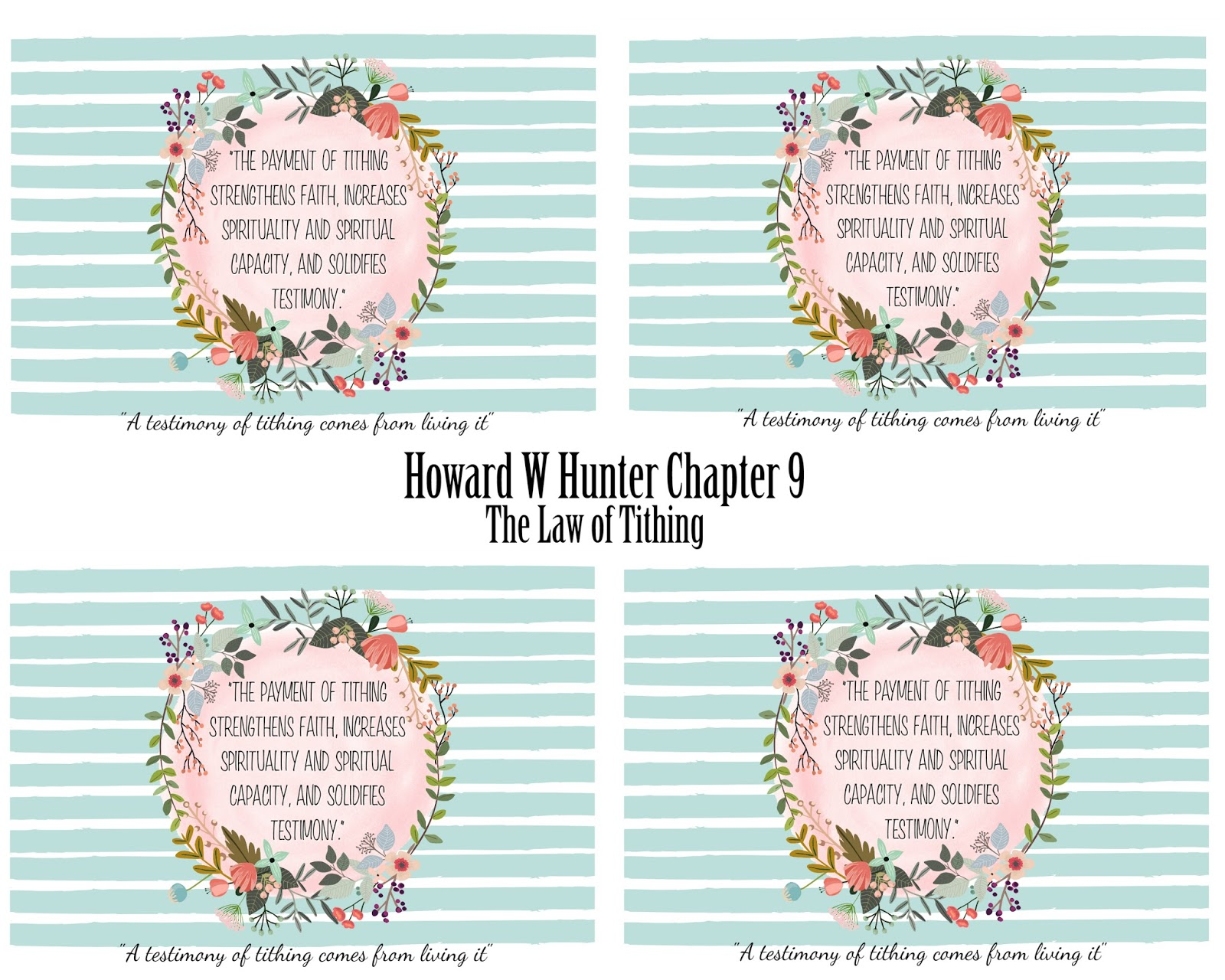 mimi lee printables u0026 more howard w hunter lesson 9 the law of