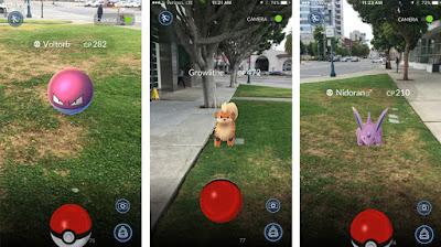 pokemon go oyun ekran görüntüsü